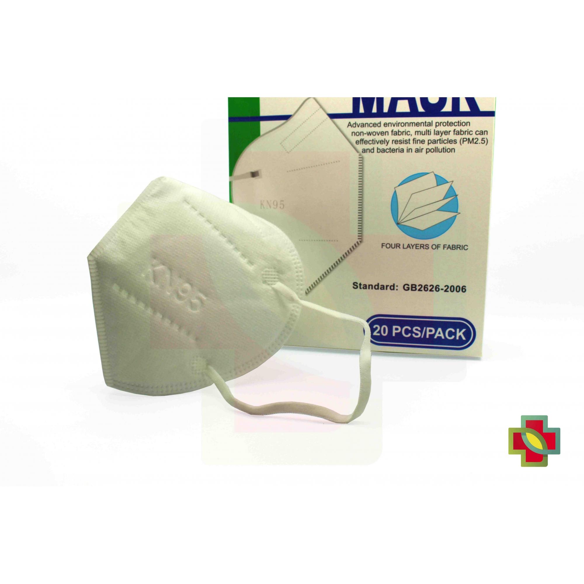 MÁSCARA DE PROTECAO PFF2 N95 KN95 (CX/20) - MASK