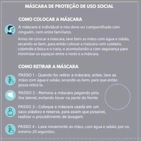 MÁSCARA LUPO BRANCA TECIDO (KIT C/08 UNDS) LUPO