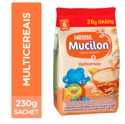 MUCILON SACHET 230GR MULTICEREAIS - NESTLE