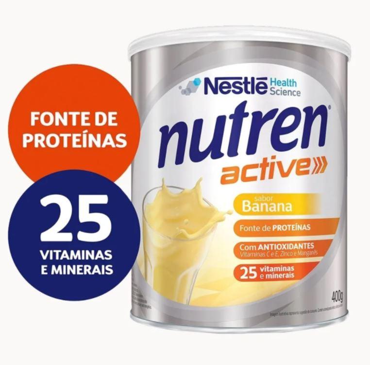 NUTREN ACTIVE BANANA 400G - NESTLÉ