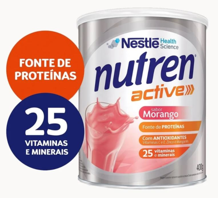 NUTREN ACTIVE MORANGO 400G - NESTLÉ