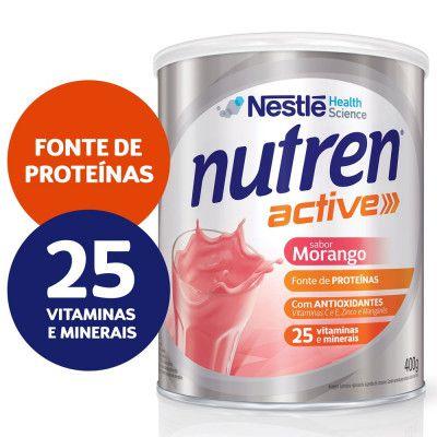 NUTREN ACTIVE PBIO1 MORANGO 400G - NESTLE