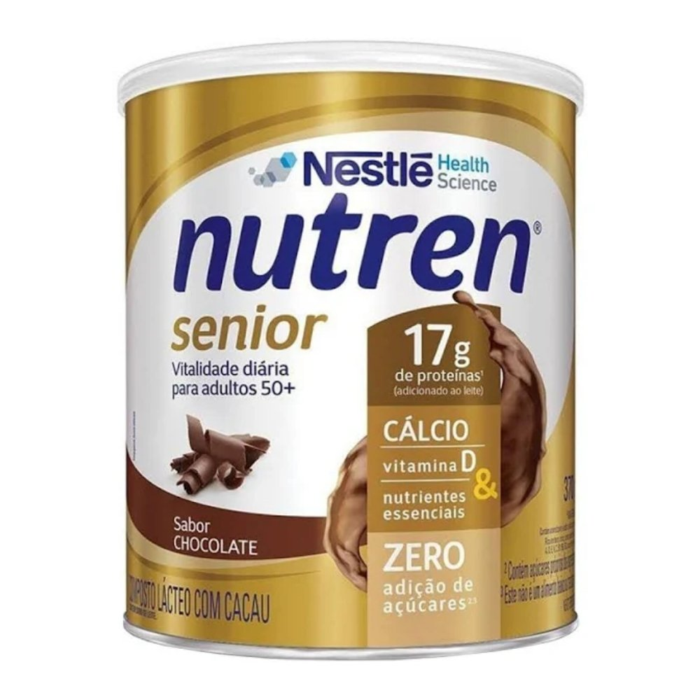 NUTREN SENIOR SUPLEMENTO ALIMENTAR SABOR CHOCOLATE 370G - NESTLÉ
