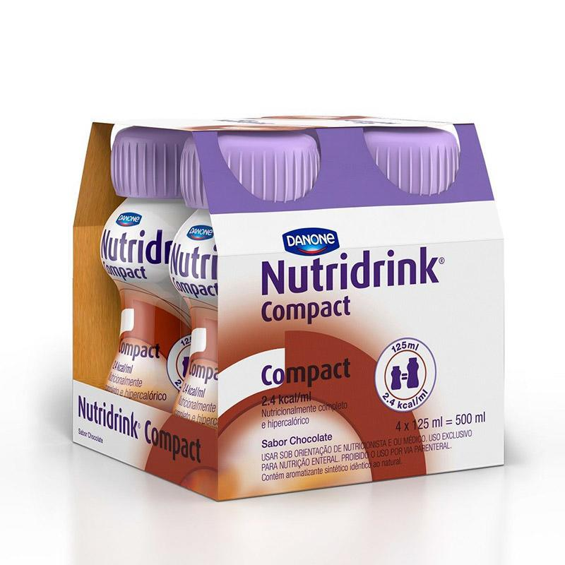 NUTRIDRINK COMPACT CHOCOLATE 4 X 125ML 500ML - DANONE