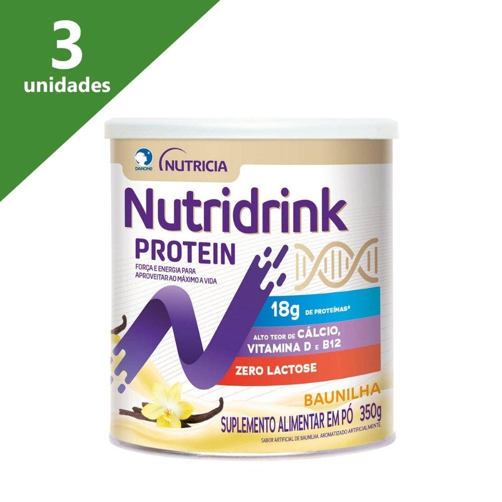 NUTRIDRINK PROTEIN PÓ BAUNILHA 350G (KIT C/03) - DANONE