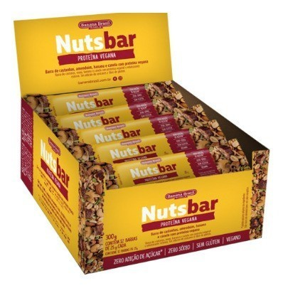 NUTS-BAR CASTANHA E CHOCOLATE 25G - BANANA BRASIL