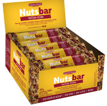 NUTS-BAR CASTANHA E CHOCOLATE 25G - BANANA BRASIL