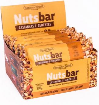 NUTS-BAR CASTANHA E SEMENTES 25G - BANANA BRASIL