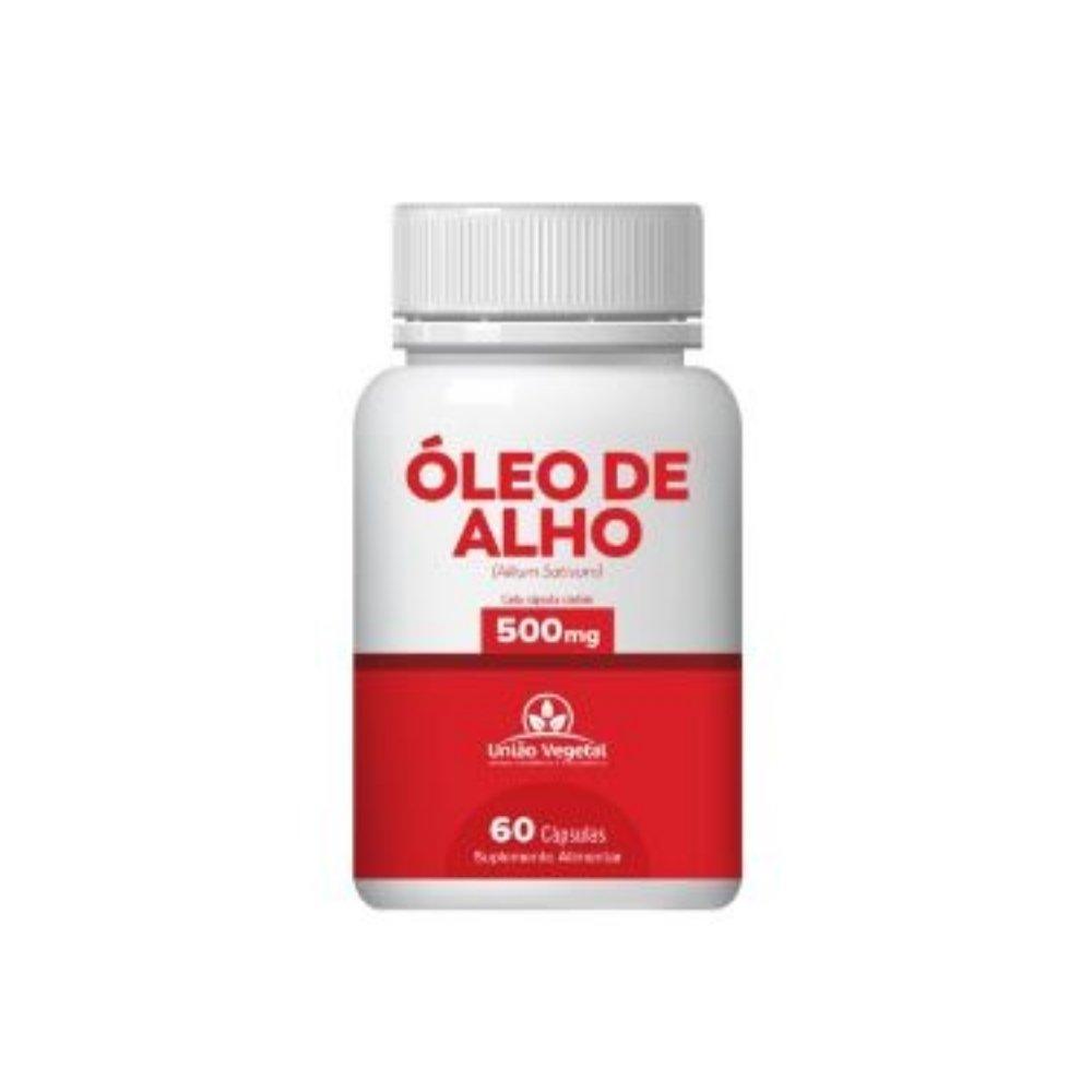 ÓLEO DE ALHO 60 CAPS 400MG - UNIÃO VEGETAL