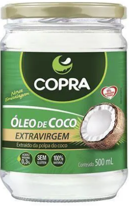 OLEO DE COCO EXTRA VIRGEM 500ML COPRA