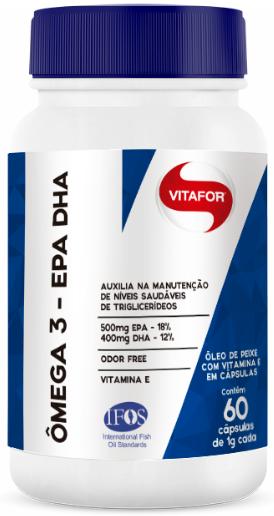 OMEGA 3 EPA E DHA C/60 CAPSULAS 1GR