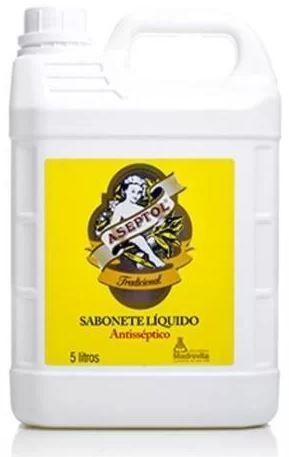 SABONETE LIQUIDO ASEPTOL 5 LITROS - MADREVITA