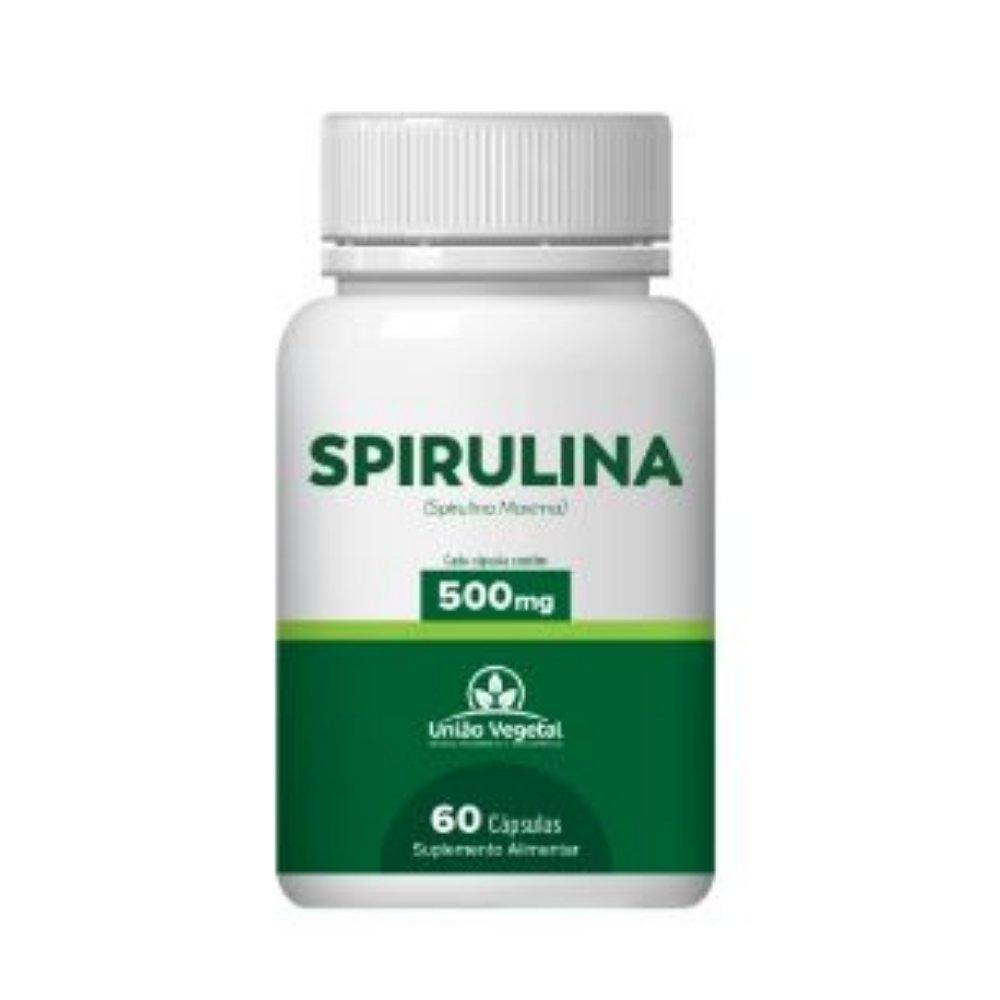 SPIRULINA 60 CAPS 500MG - UNIÃO VEGETAL