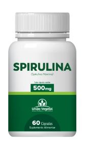 SPIRULINA 60 CAPS 500MG - UNIAO VEGETAL