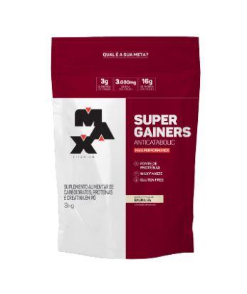 SUPER GAINERS BAUNILHA 3KG REFIL - MAX TITANIUM