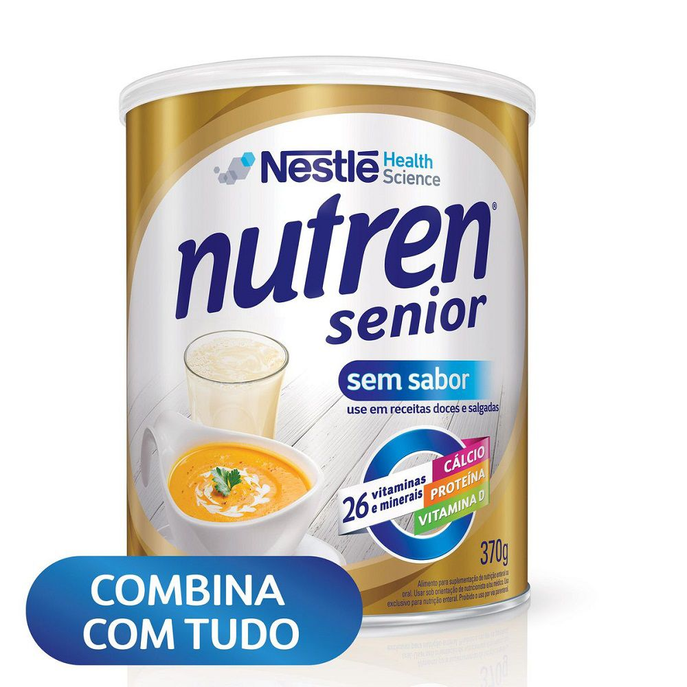 SUPLEMENTO ALIMENTAR NUTREN SENIOR SEM SABOR 370G - NESTLÉ