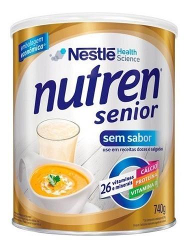 SUPLEMENTO ALIMENTAR NUTREN SENIOR SEM SABOR 740G - NESTLÉ