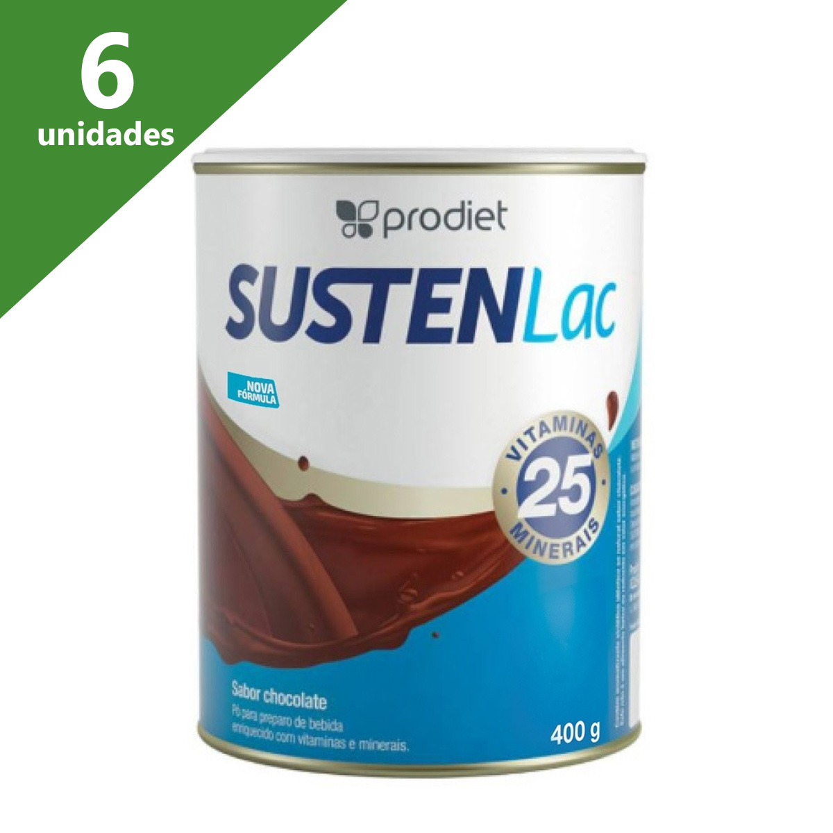 SUSTENLAC 400G CHOCOLATE TIPO ENSURE (CX C/6 UNDS) - PRODIET