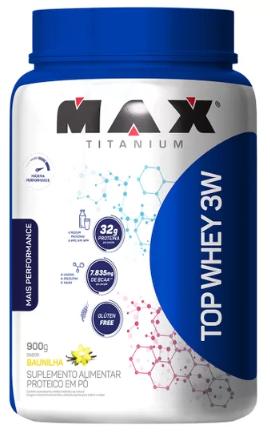 TOP WHEY 3W BAUNILHA - MAX TITANIUM