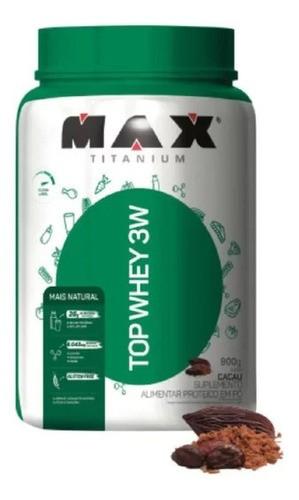 TOP WHEY 3W  CACAU 900G - MAX TITANIUM