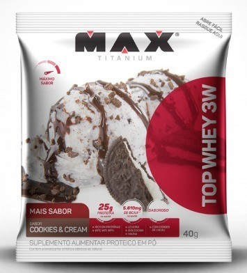 TOP WHEY 3W COOKIE SACHE - MAX TITANIUM