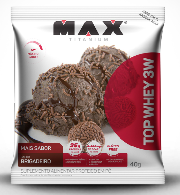 TOP WHEY 3W COOKIES 40G - MAX TITANIUM