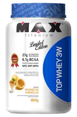 TOP WHEY 3W MOUSSE DE MARACUJA 900G - MAX TITANIUM