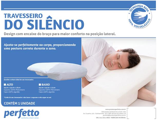 TRAVESSEIRO DO SILÊNCIO VISCOELÁSTICO PERFIL BAIXO - PERFETTO