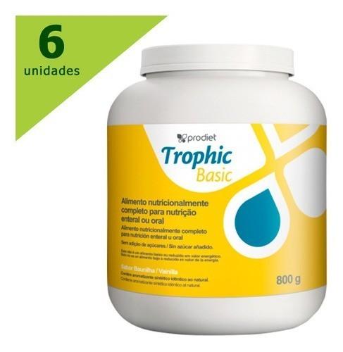Trophic Basic 800gr - Dieta Em Pó - Prodiet C/06 Potes