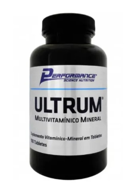 ULTRUM MULTIVITAMÍNICO MINERAL 100 CÁPSULAS - PERFORMANCE