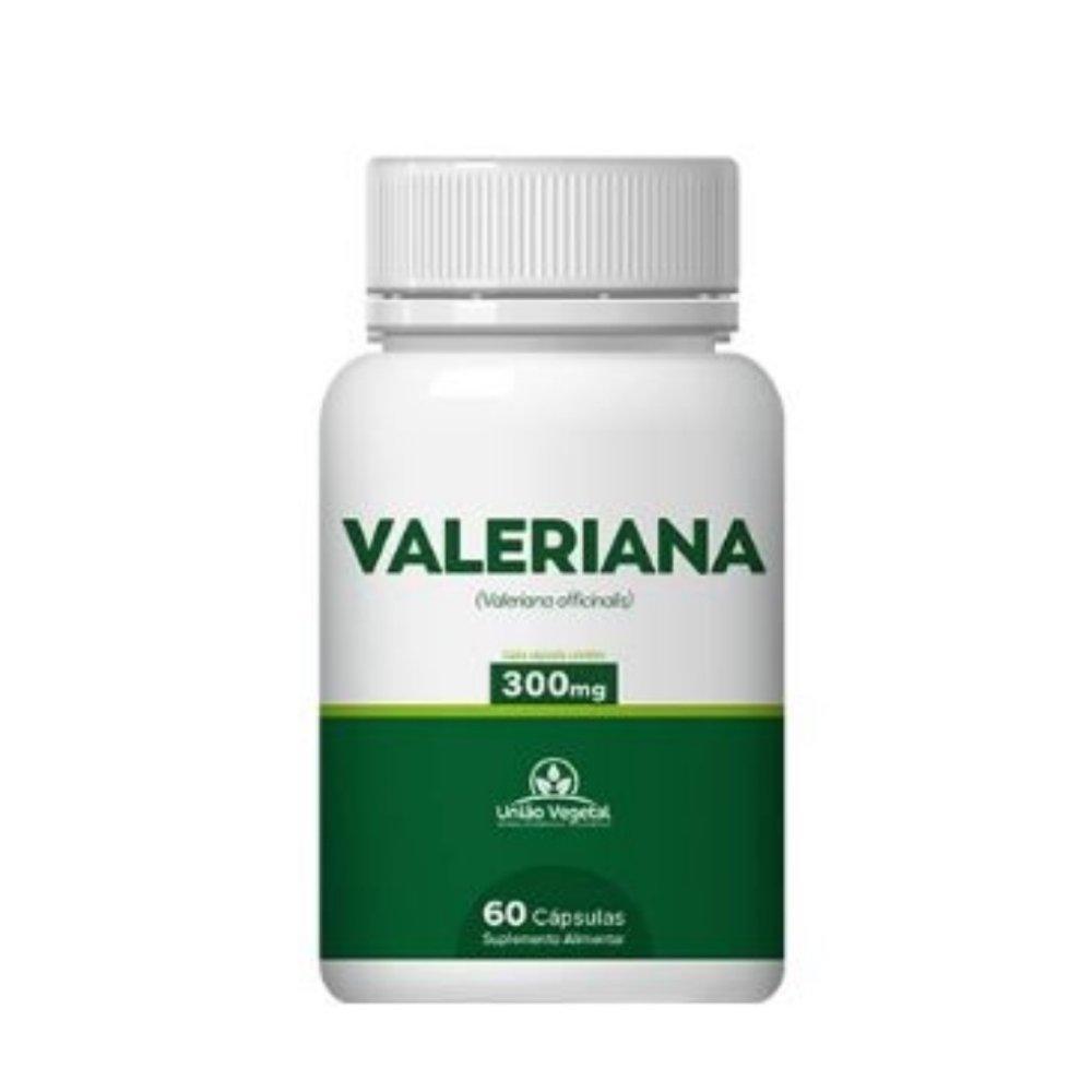 VALERIANA 60 CAPS 300MG - UNIÃO VEGETAL