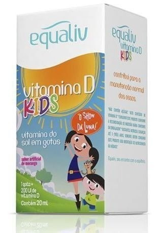 Vitamina D Kids 20ML Sabor Morango - EQUALIV