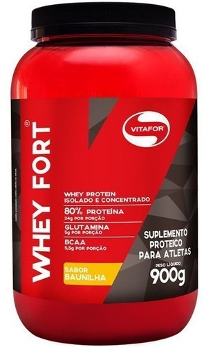 Whey Fort baunilha 900g - Vitafor