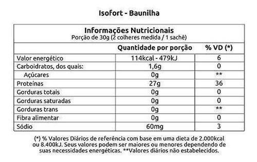 WHEY PROTEIN ISOFORT BAUNILHA 1.8KG - VITAFOR