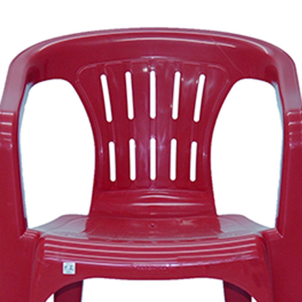 CADEIRA PLASTICA ATALAIA  VINHO 92210/050 TRAMONTINA