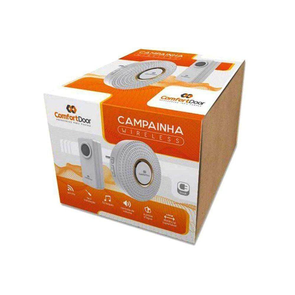 CAMPAINHA SEM FIO BRANCA - BIVOLT 00034 COMFORT DOOR