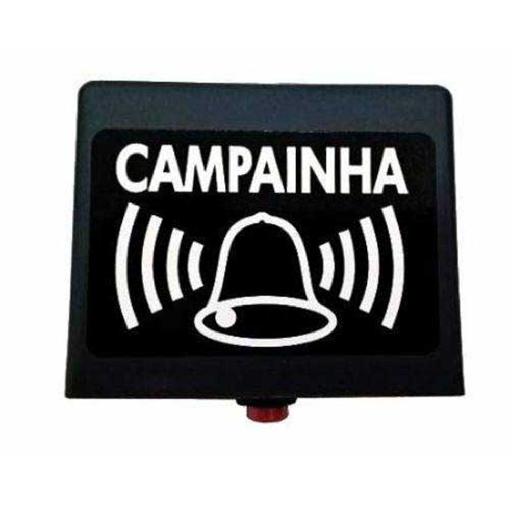 CAMPAINHA SEM FIO CINZA C-CZ RS EQUIPAMENTOS