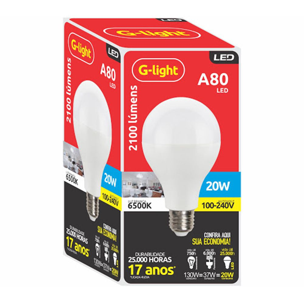 LAM PADA LED ENCE A80 20W 6500K AUTOVOLT G-LIGHT