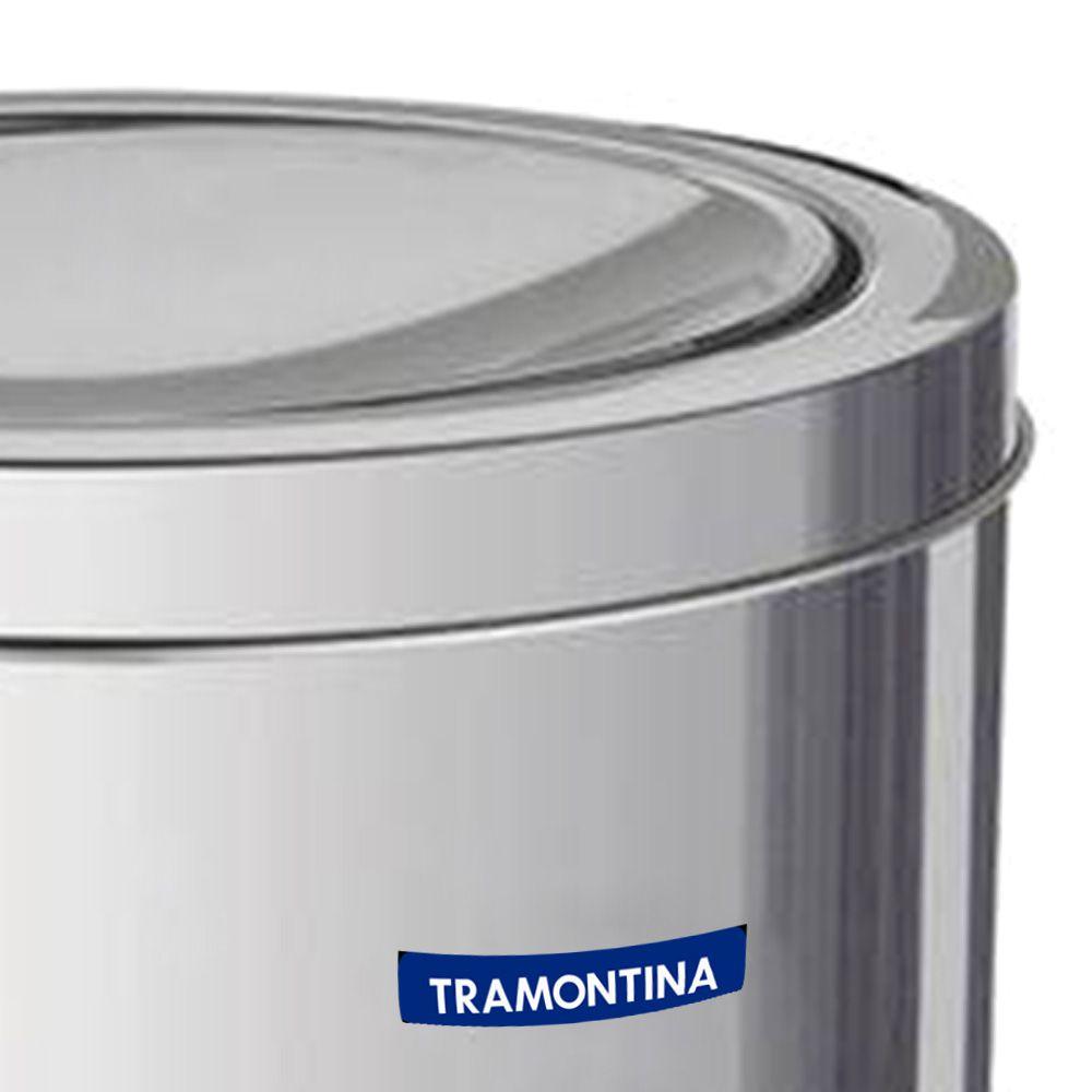 LIXEIRA ACO INOX C/TP BASC.5L  94542/105 TRAMONTINA-4