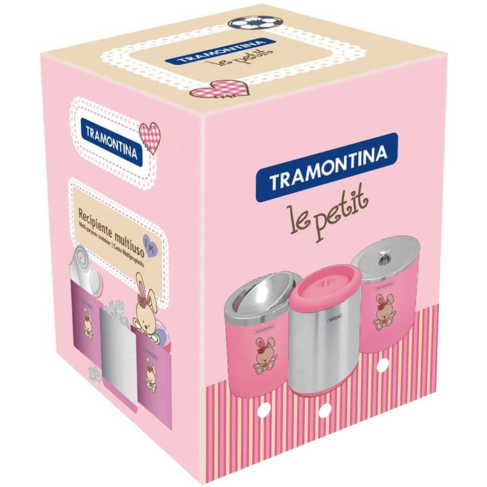 LIXEIRA CAPSULA ROSA 7 LT 94540/038 TRAMONTINA-4