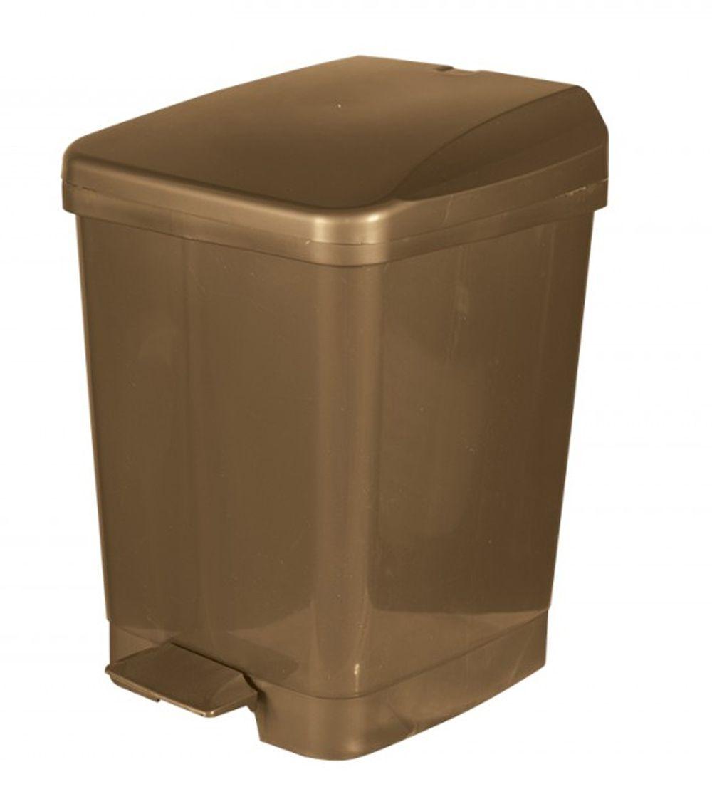 LIXEIRA PLASTICA C/PEDAL BRONZE 9L METASUL