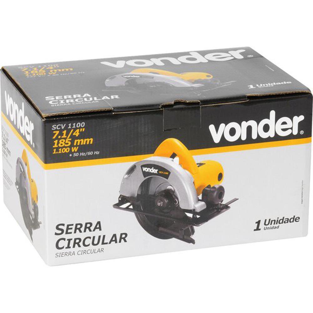 "SERRA CIRCULAR 7.1/4"" 1100W SCV1100 220V 6001110220 VONDER"
