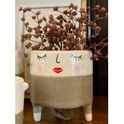Cachepot Cerâmica com pesinhos - Puppet