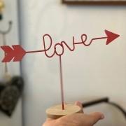 Enfeite de Mesa Seta Love