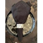 Guardanapo de Pano puro algodão - Preto