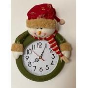 Relógio de Parede Boneco de Neve
