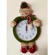 Relógio de Parede Boneco de Neve (Perninhas)