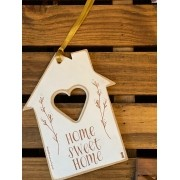 Tag de Madeira mdf Casinha - Home Sweet Home