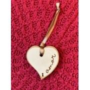 Tag de Madeira mdf Coração - Amor