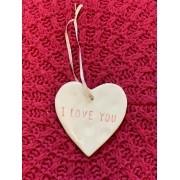"""Tag de Porcelana """"I love you"""""""